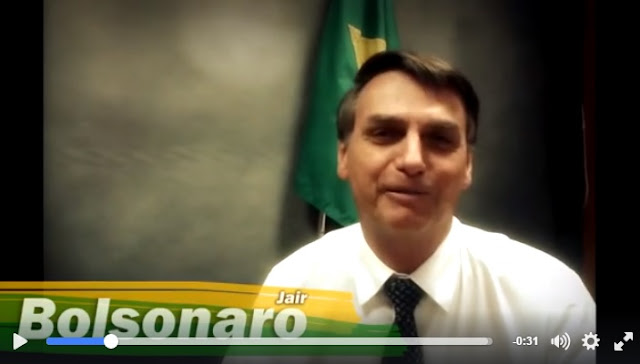 Deputado Jair Bolsonaro agradece apoio de alunos da FMC