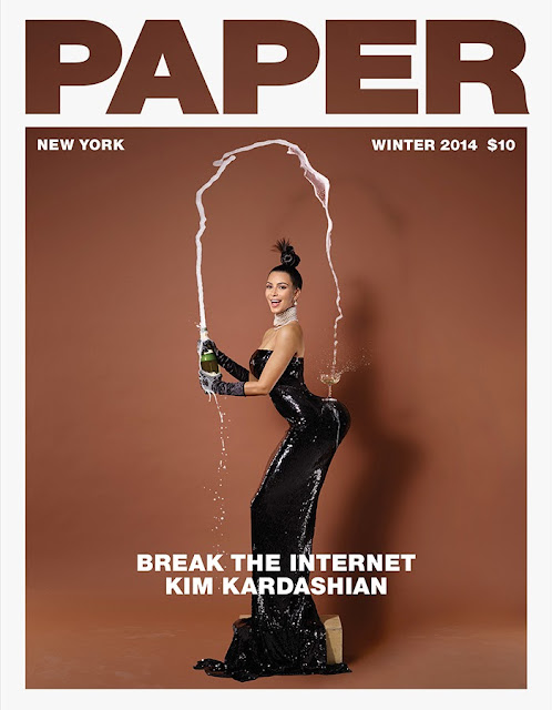 Kim Kardashian breaks the internet with her big naked butt