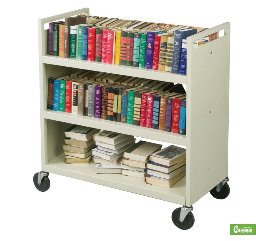 Markerboardsplus KD Rolling Book Cart wShelves