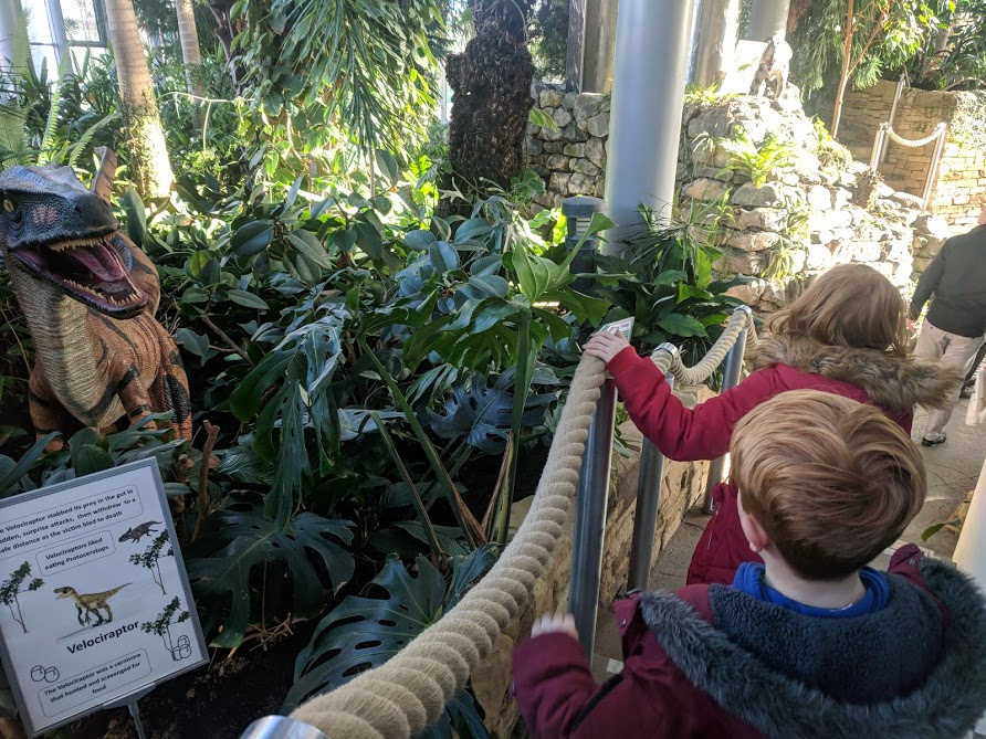 5 Reasons to Visit the Leonardo da Vinci: A Life in Drawing Exhibition at Sunderland Museum & Winter Gardens with Kids - winter gardens bridge and dinosaur