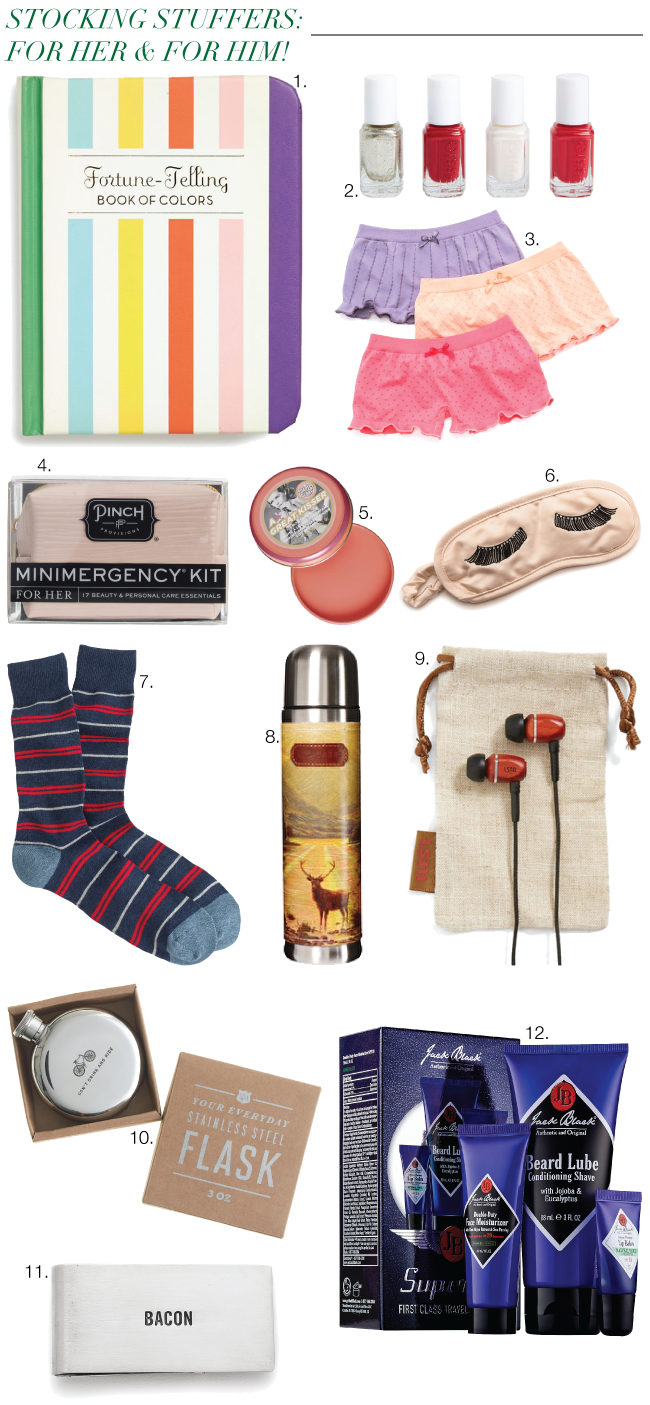 Christmas & Holiday Gift Guide: Stocking Stuffers // A Style Caddy
