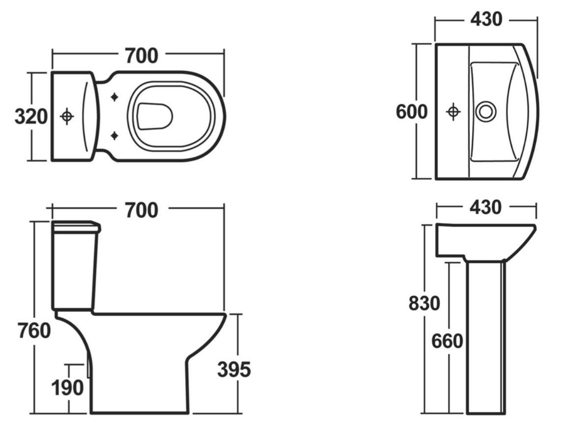 Kích thước các loại thiết bị vệ sinh Inax phổ biến