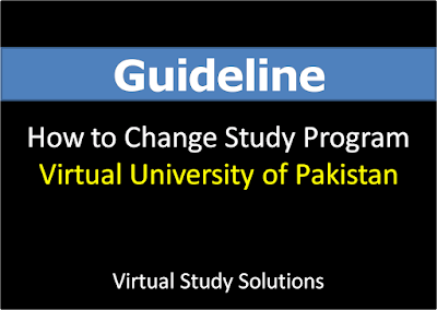 How to Change Your VU Study Program - Complete Guide