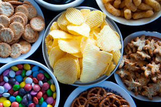 An assortment of snack foods