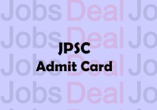 JPSC Specialist Doctor Admit Card 2017