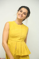 Taapsee Pannu looks mesmerizing in Yellow for her Telugu Movie Anando hma motion poster launch ~  Exclusive 055.JPG