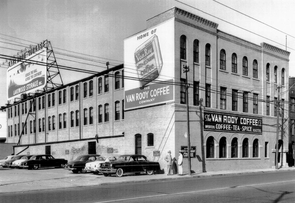 Van Roy Coffee Building Then Now