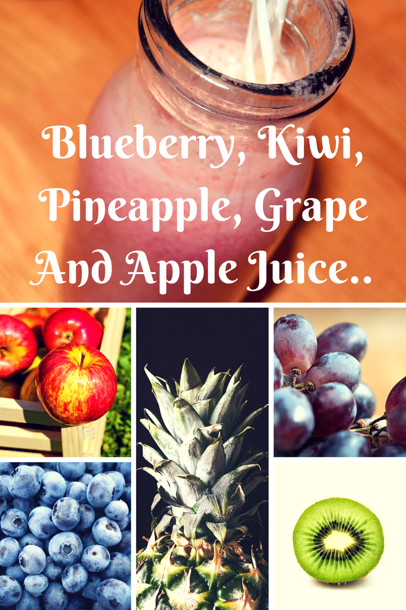 Blueberry, Kiwi, Pineapple, Grape And Apple Juice