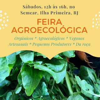 13 e 27 Abril, 12h-16h: Feira Agroecológica, produtos Orgânicos, Artesanais e da Roça
