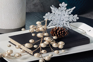bronze with gold and silver Christmas decor
