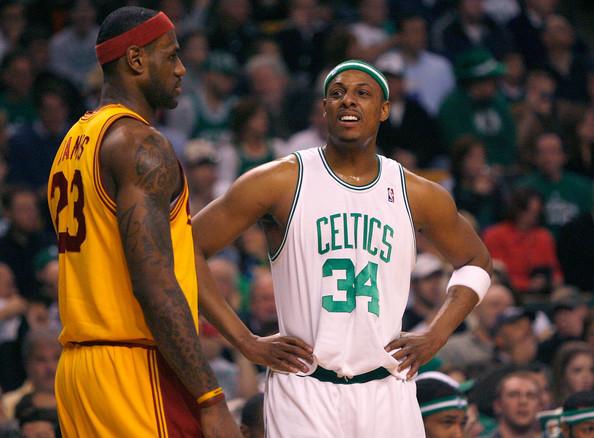 big sale e12ed 4ddb0 Paul Pierce Lebron James duel - 2008 NBA Eastern Semi-Finals - game seven