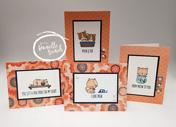 I Got To Play With Some New Cat Stamp Sets Hadnt Had The Opportunity Use Yet As Well Drag Out A Bunch Of Older Too