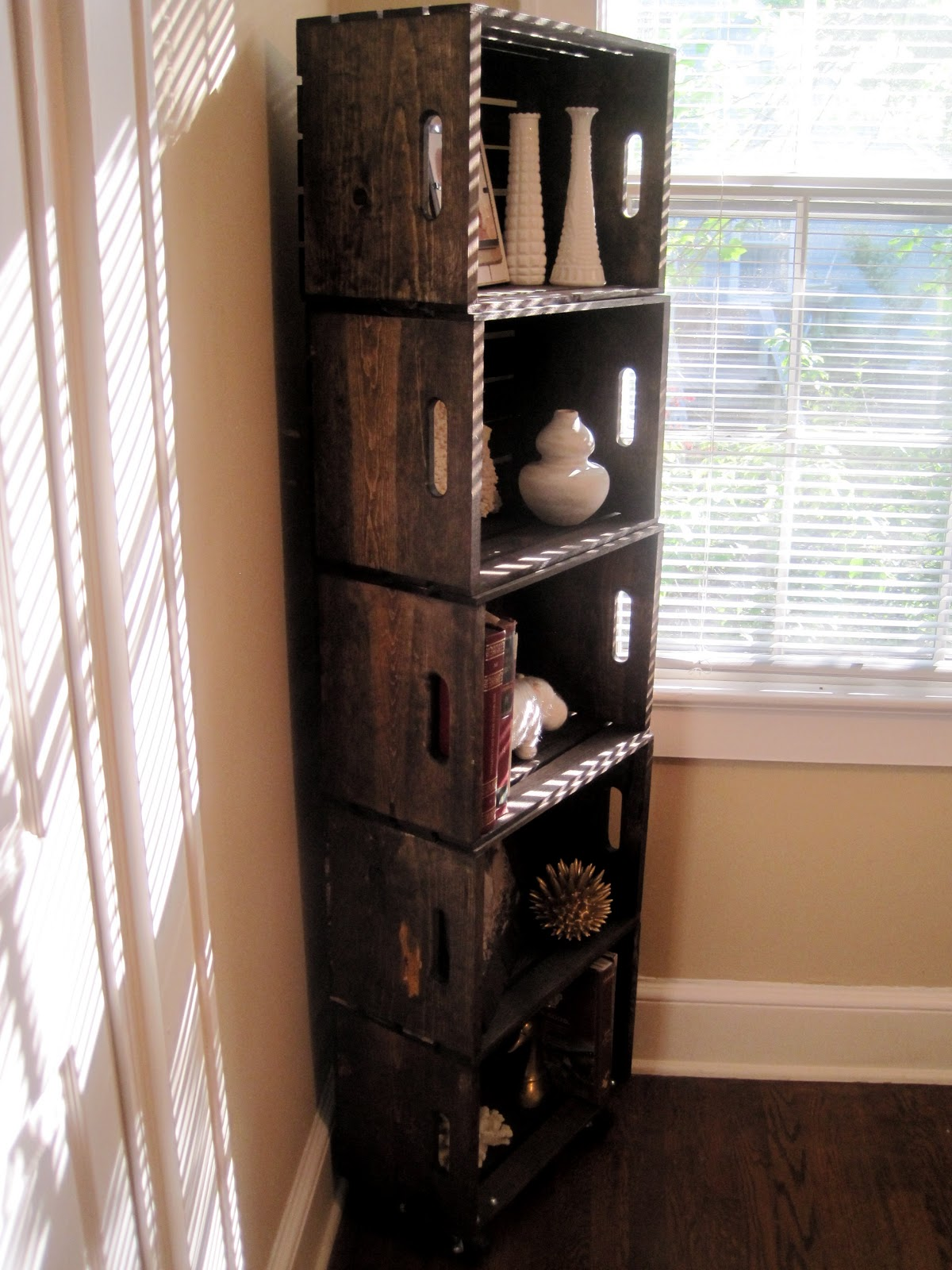 Wood Crate Bookshelf How To Life In High Cotton