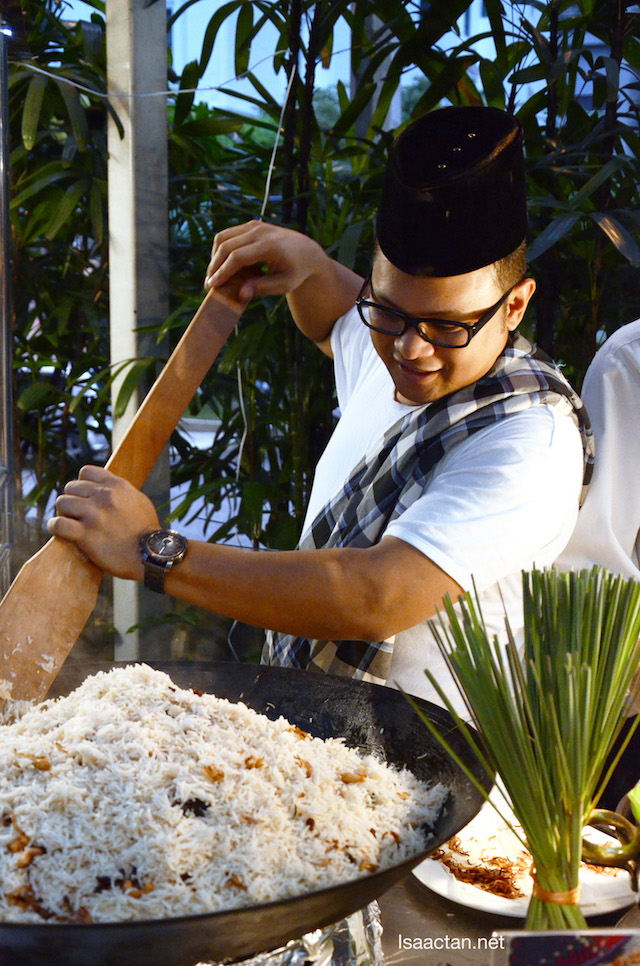 Chef de cuisine, Suhalmi Tasir with his Nasi Minyak Rendang Tok
