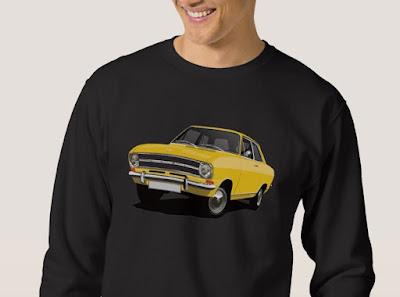 Opel Kadett B sedan t-paita keltainen