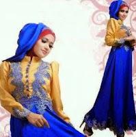 Contoh model gaun pesta muslim modern untuk muslimah