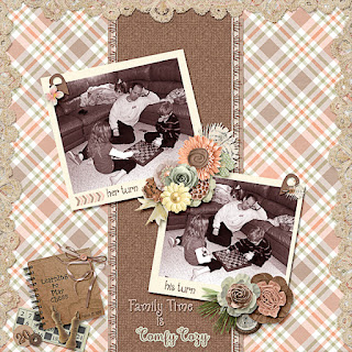 Creative Team, Annemarie, for GingerScraps – Free Daily Download to obtain a Full Sized Kit Cozy New Year Page Kit by ADB Designs and January 2019 Designer Spotlight Challenge