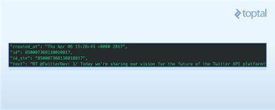 Some of the attributes returned by the Twitter API