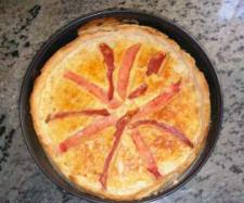 Quiche de jamón york,queso y bacon thermomix