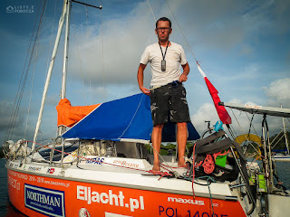 Szymon Kuczyński mały jacht Atlantic Puffin