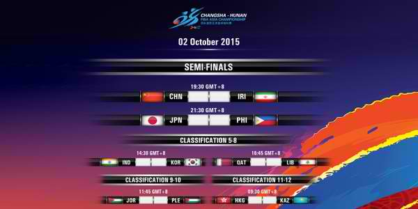 Day 8 - Semifinals: FIBA Asia 2015 Results, Scores, Stats & Video Highlights (October 2)
