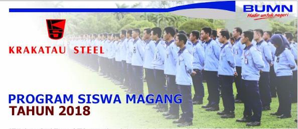 perusahaan baja terpadu dan terbesar di indonesia yg berlokasi di kota Cilegon Lowongan Kerja PT Krakatau Steel 2018 Untuk Lulusan SMK, Sekolah Menengan Atas (Program Siswa Magang)