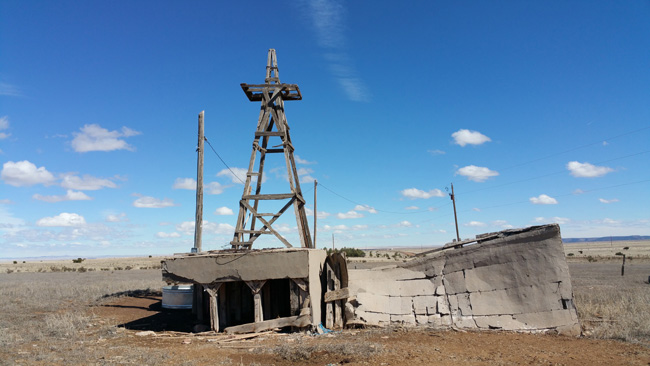 Abandoned building in Mountainair, New Mexico