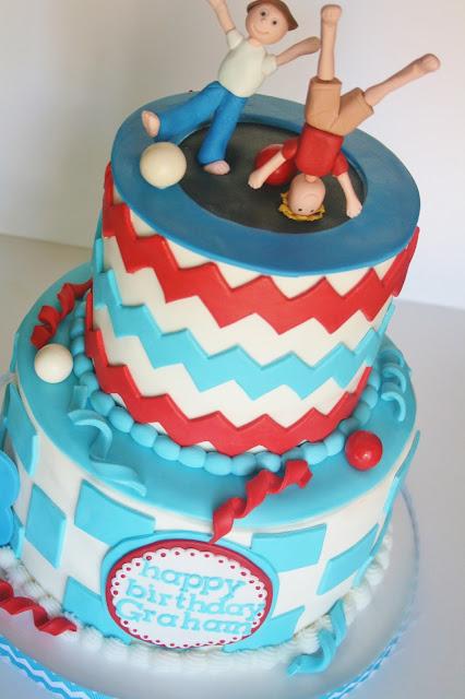 And Everything Sweet Stylish Trampoline Cake