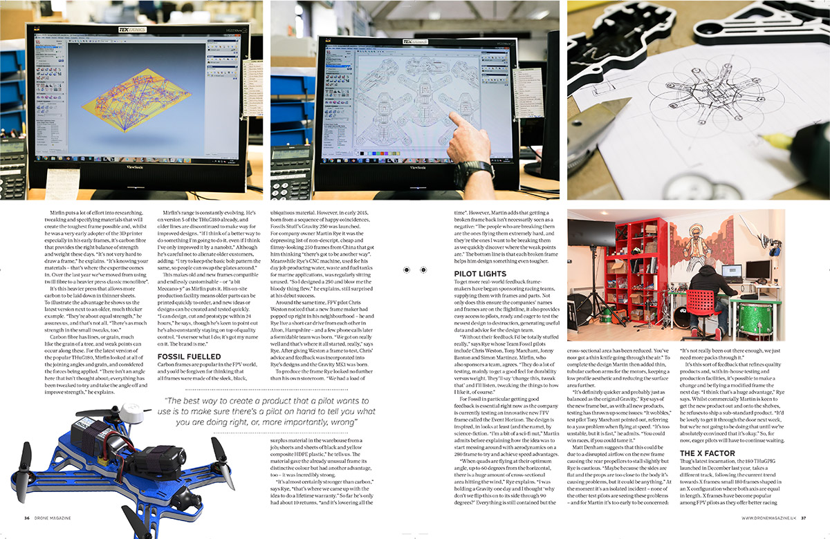 Published work - \'The Frame Game\', an article on FPV racing frames ...