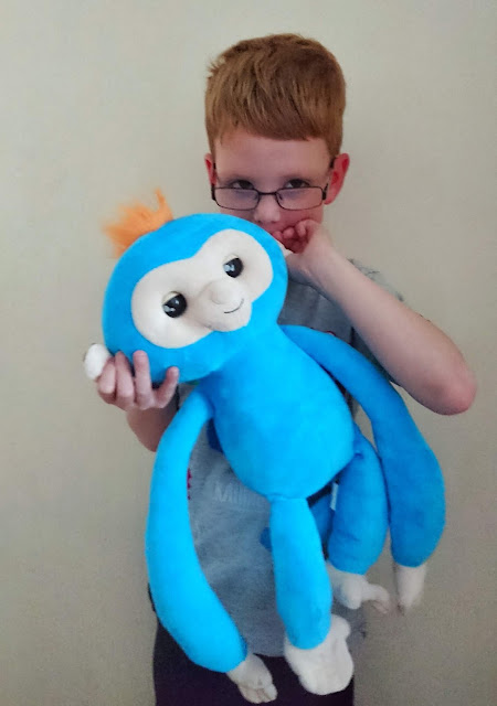 Fingerlings Hugs review on Us Two Plus You - Dylan loves speaking into Boris's ear so he can repeat it.
