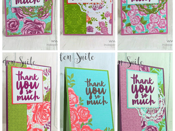Customer Thank You Cards with the Petal Garden Suite and Thankful Thoughts