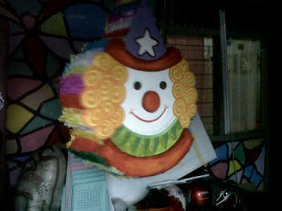 pinata ultah, pinata murah, pembuat pinata, Pinata / Piñata 2d, Clown pinata