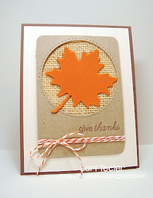 Give Thanks card-designed by Lori Tecler/Inking Aloud-stamps from Papertrey Ink