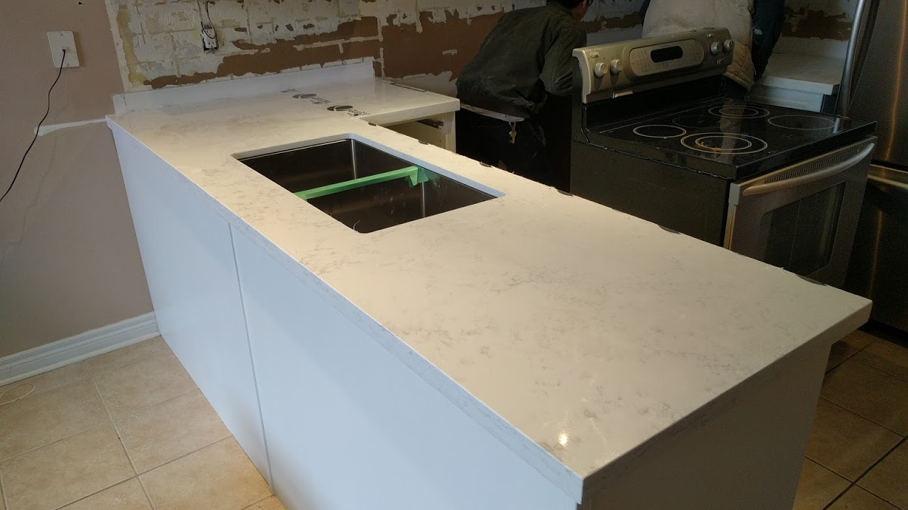 installing kitchen counter tops