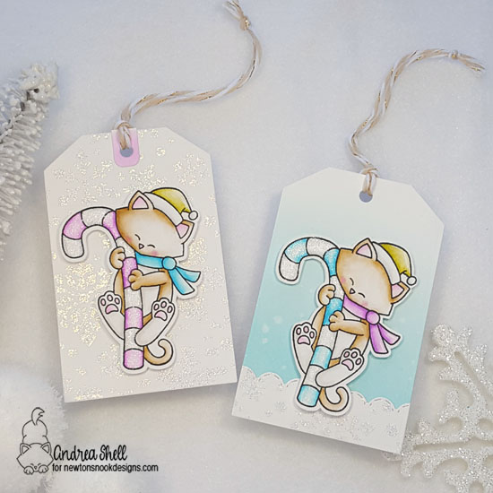 Andrea features Newton's Candy Cane and Snowfall by Newton's Nook Designs; #newtonsnook