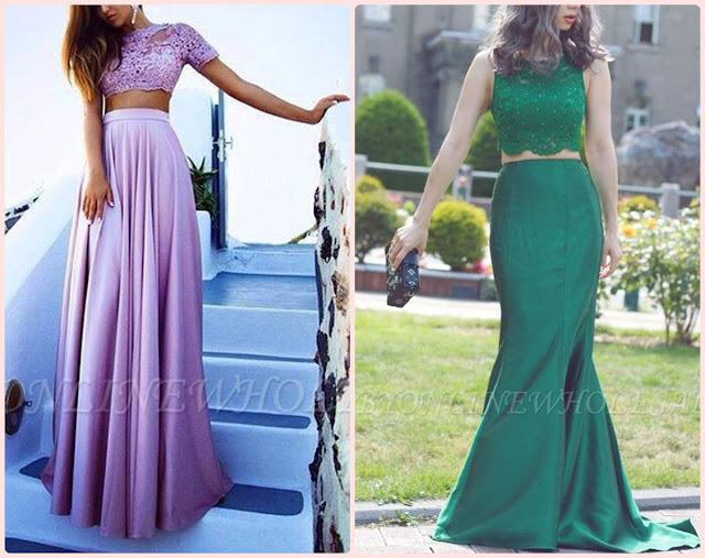 Tendência para o verão: Vestidos de festa com duas peças (Cropped)