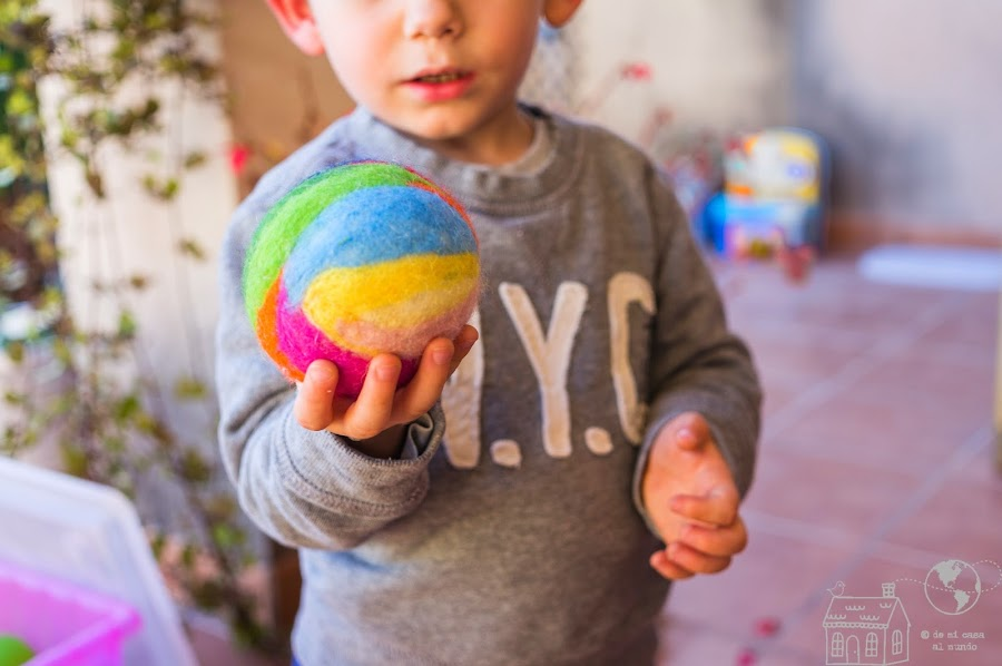 pelota de lana diy waldorf
