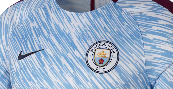 free shipping a66bc 7f042 Insane Manchester City 2018 Pre-Match Shirt Released - Footy ...