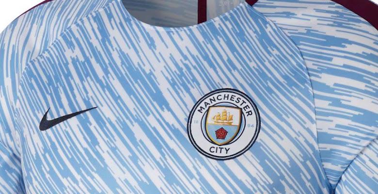 99599b7cc0e Insane Manchester City 2018 Pre-Match Shirt Released