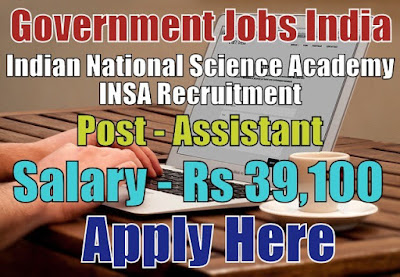 Indian National Science Academy INSA Recruitment 2017