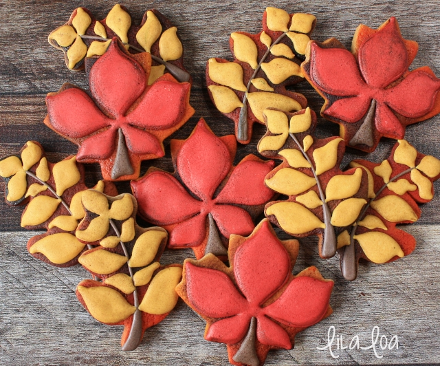 How to make decorated fall leaf sugar cookies