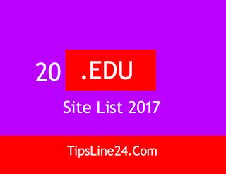 20 .Edu Site List 2017 to get Backlink