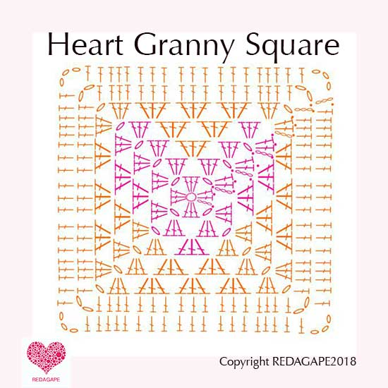 Crochet Granny Square Diagram Vw Beetle Wiring 1968 Ergahandmade Heart Free Pattern Http Blogspot Gr 2015 06 Stitches Html Redagapeblog Com Cal