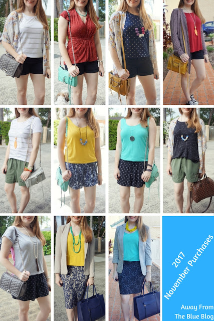 November purchases worn - spring and summer outfits Brisbane budget fashion blogger | away from the blue