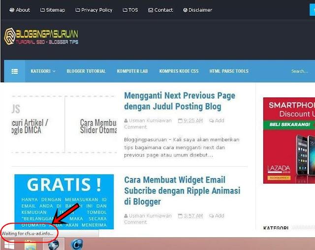 Cara Blokir Iklan cfs.u-ads.info Telkom Speedy