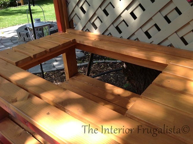 DIY Potting Bench Bar Opening