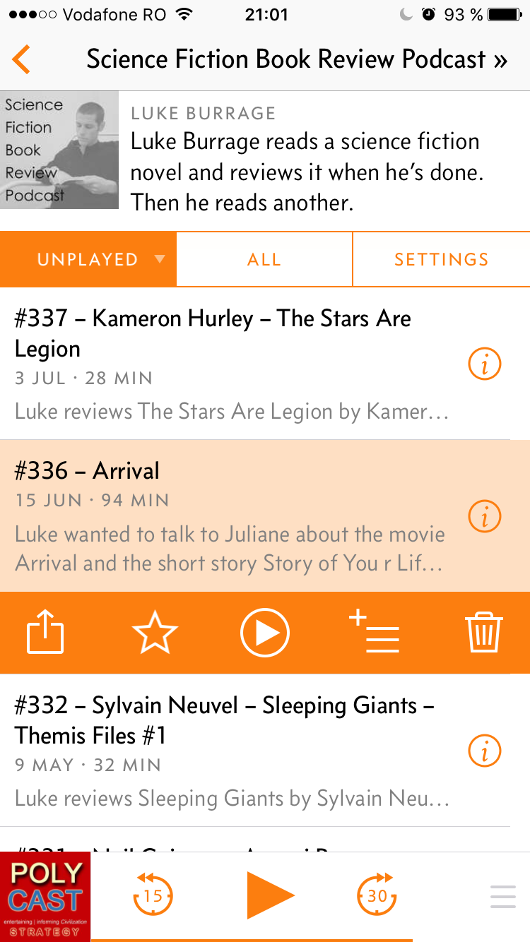 Overcast episode list