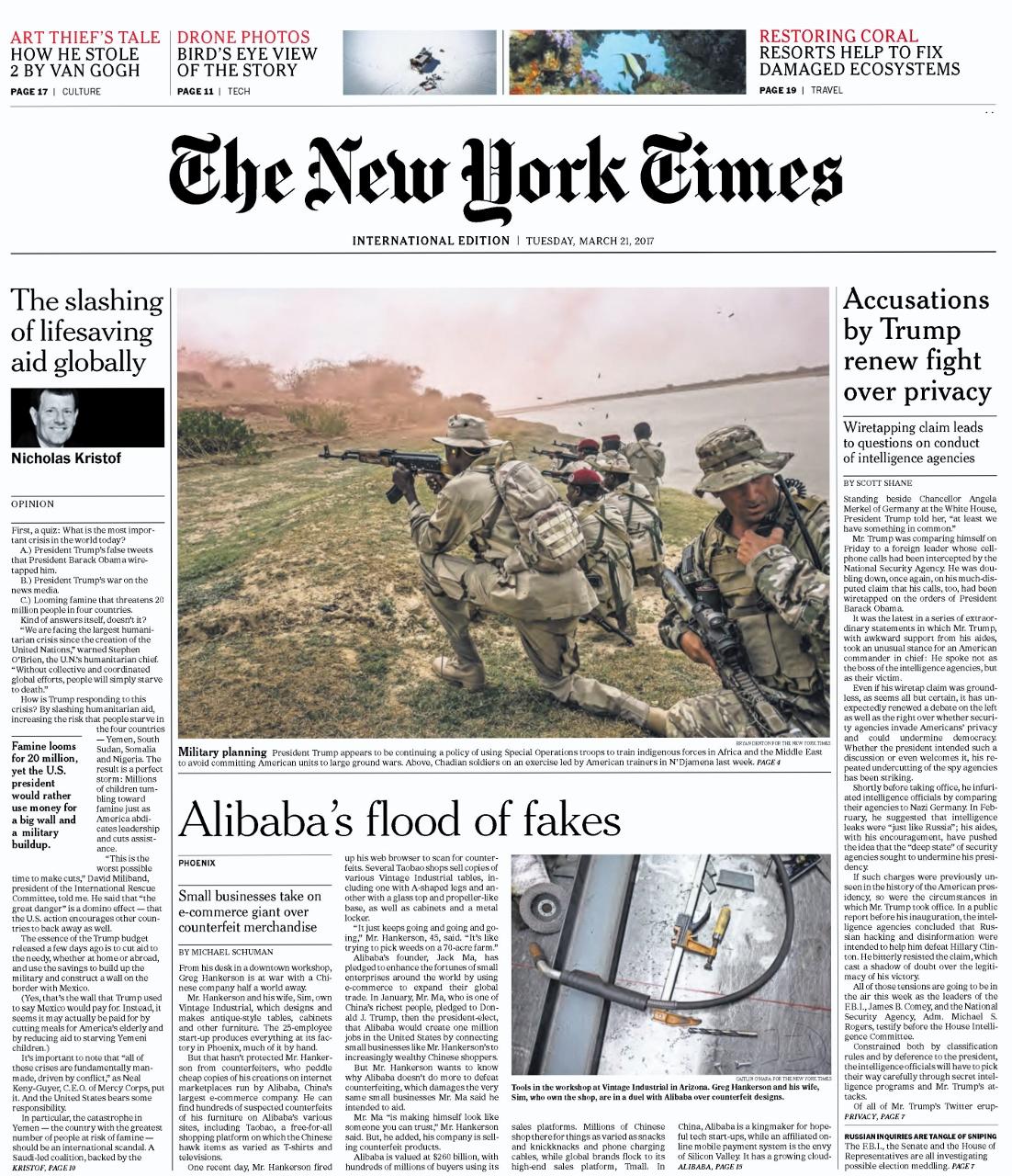 International New York Times Pdf