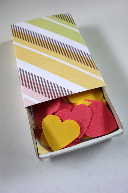 Valentine's Day crafts, how to use paper remnants, confetti hearts, love notes
