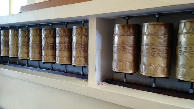 Prayer Wheels of Dalai Lama Temple